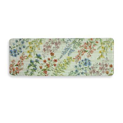 Bacova Summer Flowers 20-Inch x 55-Inch Memory Foam Kitchen Mat