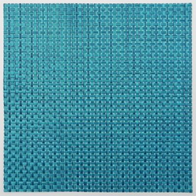 Bistro Woven Square Placemat in Ultramarine