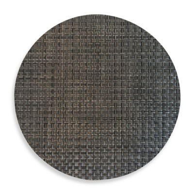 Bistro Woven Vinyl Placemat in Pewter