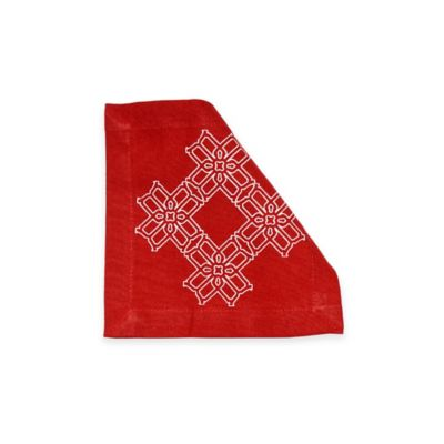B by Brandie™ Truman Cocktail Napkin in Red
