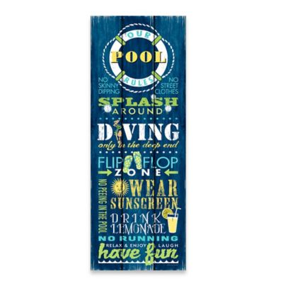 """""""Our Pool Rules"""" Canvas Wall Art"""