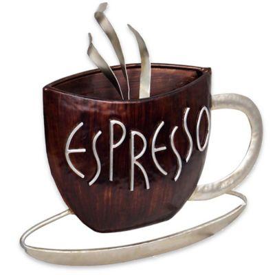 Espresso Metal Plaque Wall Art
