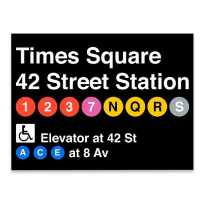 Times Square Subway Sign Giclée Wall Art