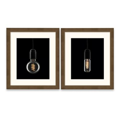 Framed Giclée Assorted Edison Bulb Wall Art (Set of 2)
