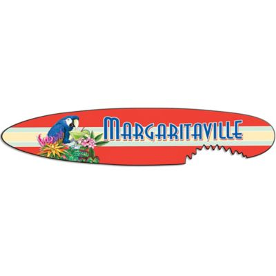 Margaritaville® Shark Bite Surf Board Outdoor Wall Art