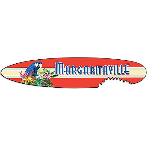 Margaritaville 174 Shark Bite Surf Board Outdoor Wall Art