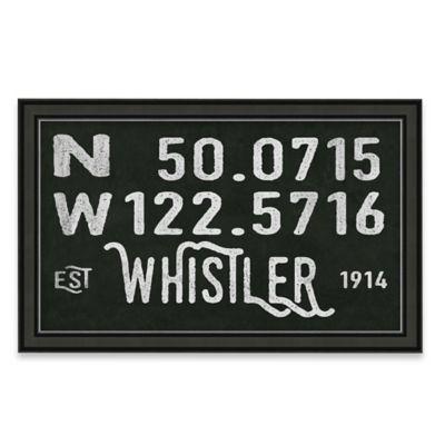 Framed Giclée Whistler Coordinates Print Wall Art