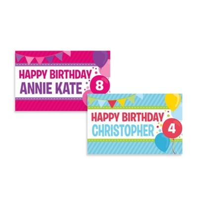 """Happy Birthday"" Activity Banner Placemat in Pink/Purple"
