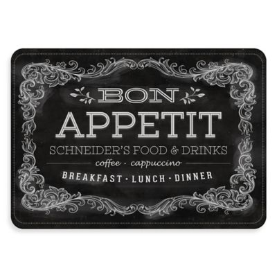 """Premium Comfort by Weather Guard™ """"Bon Appetit"""" 22-Inch x 31-Inch Kitchen Mat in Black/White"""