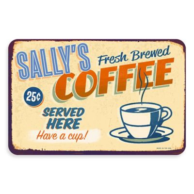The Softer Side by Weather Guard™ Retro Coffee Shop 18-Inch x 27-Inch Kitchen Mat