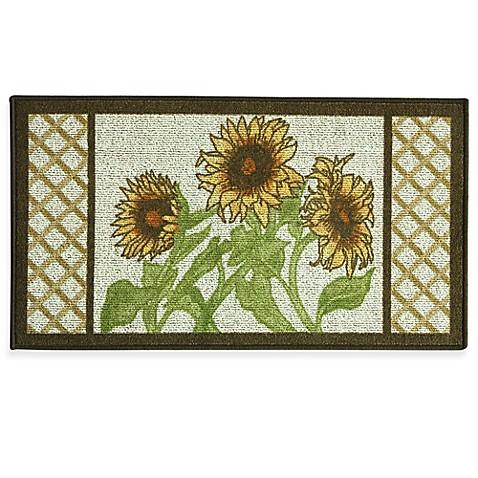 Bacova Sunflower Frame 22 4 Inch x 40 Inch Berber Kitchen