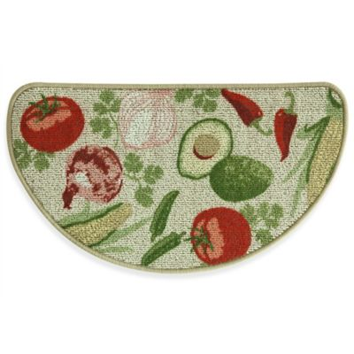 Bacova Mexican Veggie Toss 18-Inch x 31.5-Inch Berber Kitchen Mat in Red/Green