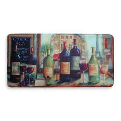 Relaxed Chef 19.6-Inch x 39.3-Inch Bistro Wine Tasting Kitchen Mat