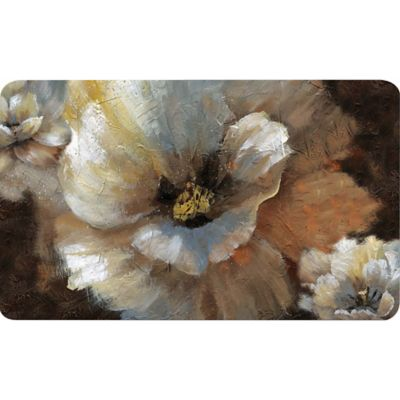 Soothing Chef 36-Inch x 20-Inch White Poppy Anti-Fatigue Kitchen Mat