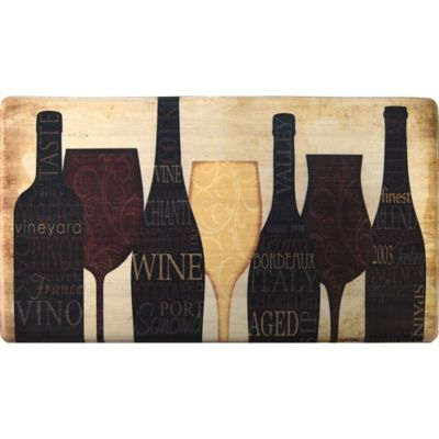 Cook N Comfort 35.4-Inch x 19.6-Inch Wine Silhouette Anti-Fatigue Kitchen Mat