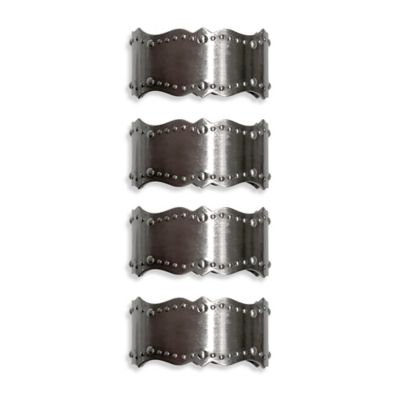 Lenox® French Perle™ Bead Napkin Rings (Set of 4)