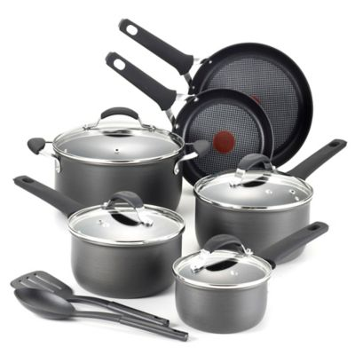 T-Fal® Endura 12-Piece Hard Anodized Nonstick Cookware Set
