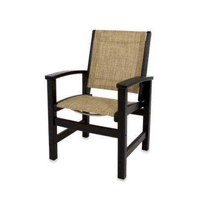 POLYWOOD® Coastal Dining Chair in White/Navy