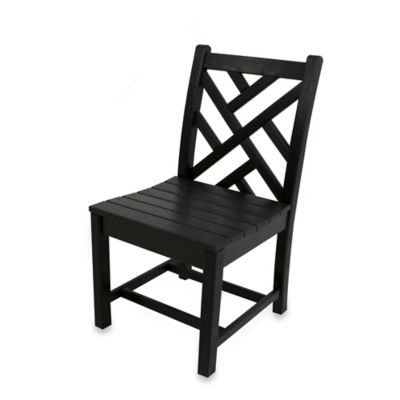POLYWOOD® Chippendale Dining Side Chair in Black
