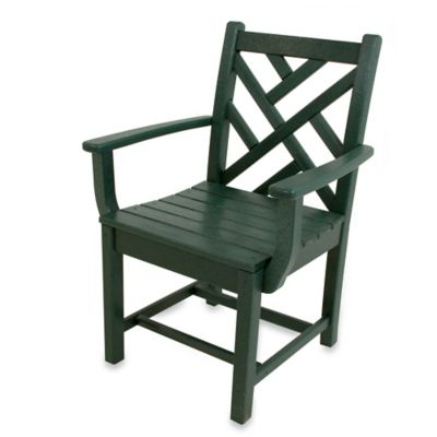 POLYWOOD® Chippendale Dining Arm Chair in Green