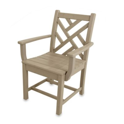 POLYWOOD® Chippendale Dining Arm Chair in Sand