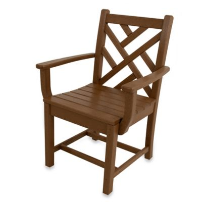 POLYWOOD® Chippendale Dining Arm Chair in Teak
