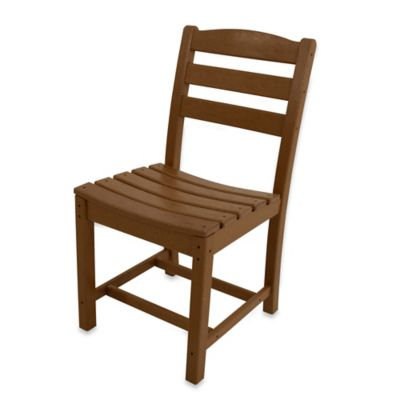 POLYWOOD® La Casa Café Dining Side Chair in Teak