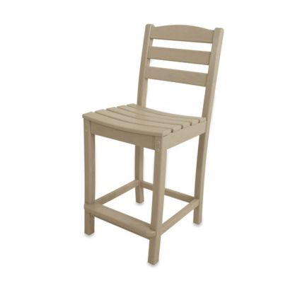 POLYWOOD® La Casa Café Counter Side Chair in Sand