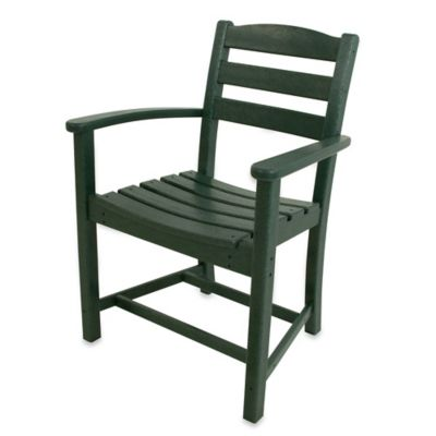 POLYWOOD® La Casa Café Dining Arm Chair in Green