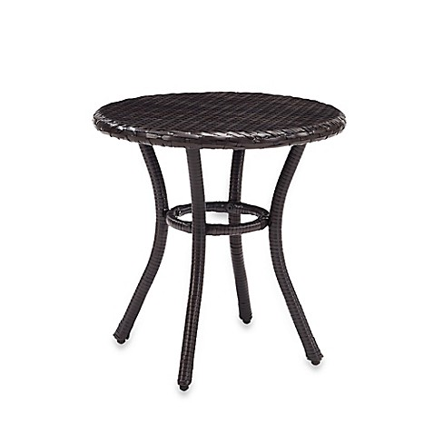 Buy Crosley Palm Harbor Round Outdoor Wicker Side Table In