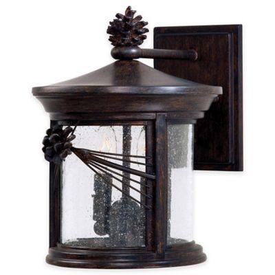 Minka Lavery® Abbey Lane™ 2-Light 12-inch Wall-Mount Outdoor Lantern in Iron Oxide