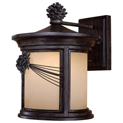 Minka Lavery® Abbey Lane™ 1-Light 14.25-Inch Wall-Mount Outdoor Wall Lantern in Iron Oxide