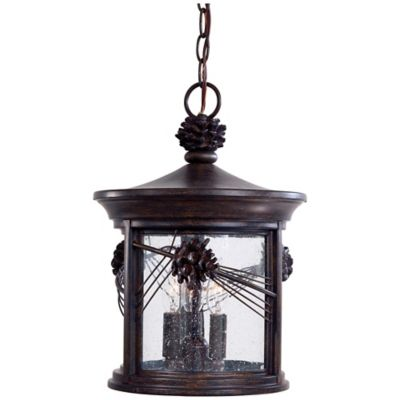 Minka Lavery® Abbey Lane™ 3-Light Outdoor Pendant Light in Iron Oxide