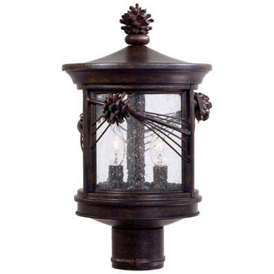 Minka Lavery® Abbey Lane™ 2-Light Post-Mount Outdoor Lantern in Iron Oxide