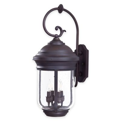 Minka Lavery® Amherst™ 4-Light Wall-Mount Outdoor Lantern in Roman Bronze™