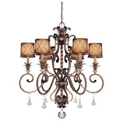 Minka Lavery® Aston Court™ 6-Light Chandelier in Bronze with Glass Shade