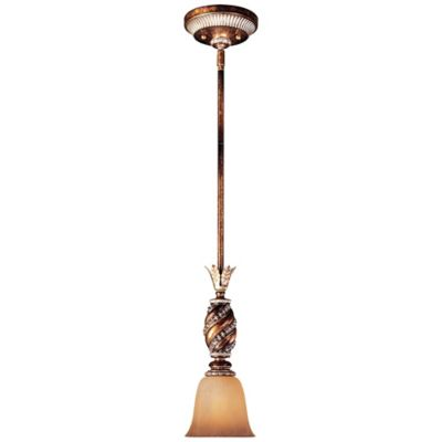 Minka Lavery® Aston Court™ 14-Inch Mini Pendant in Bronze with Glass Shade