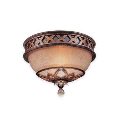Minka Lavery® Aston Court™ 1-Light Flush-Mount Fixture in Bronze with Glass Shade