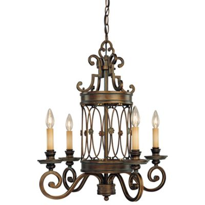 Minka Lavery® Atterbury 4-Light Candelabra Chandelier in Bronze