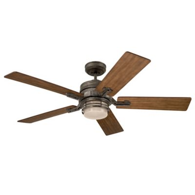 Emerson Amhurst 54-Inch 2-Light Ceiling Fan in Brushed Steel