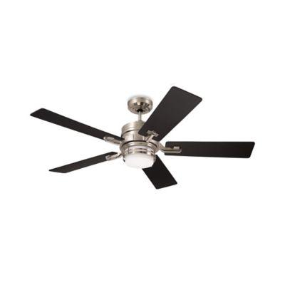 Emerson Amhurst 54-Inch 2-Light Ceiling Fan in Brushed Steel