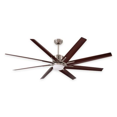 Emerson Aira Eco 72-Inch Light Ceiling Fain with Remote Control in Brushed Steel