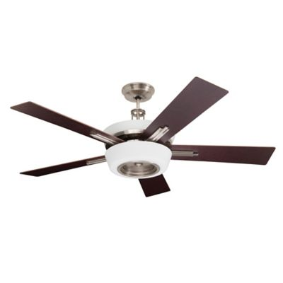 Emerson Laclede 62-Inch Eco 9-Light Ceiling Fan in Brushed Steel with Remote Control