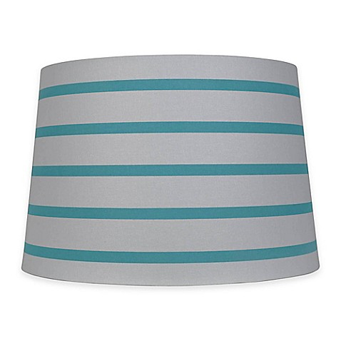 mix match large 15 inch striped hardback drum lamp shade. Black Bedroom Furniture Sets. Home Design Ideas