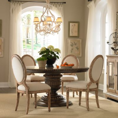 Pulaski 6-Piece Daphne Dining Table, Anthousa Eos Chairs, and Danae Armchair