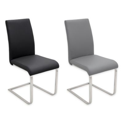 LumiSource Foster Dining Chair in Black (Set of 2)