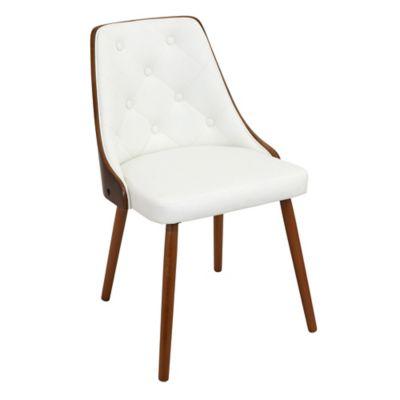 LumiSource Gianna Chair in Walnut/White