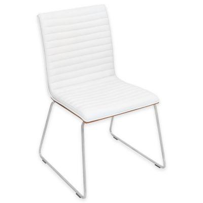 LumiSource Mara Chair in Walnut/Off White