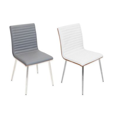 LumiSource Mason Chairs in Off White (Set of 2)