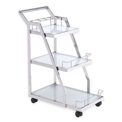 Zuo® Acropolis 3-Tier Serving Cart in Chrome